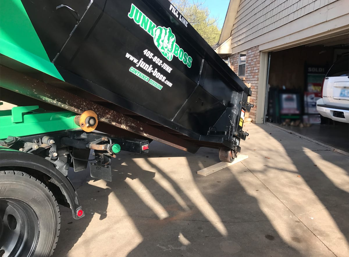 Garage Junk Removal and Cleanup dumpster rental