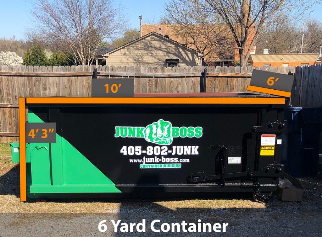 6-yard dumpster