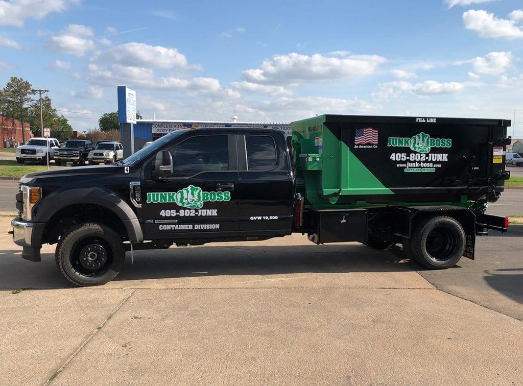 6 yard dumpster truck