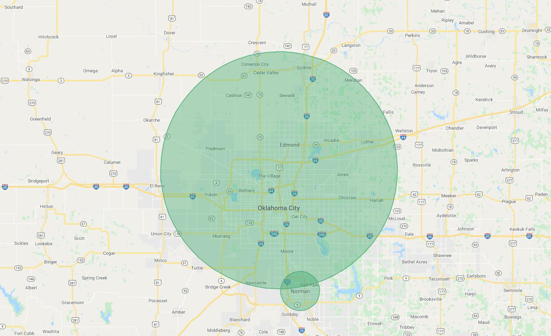 Junk Boss Service Area Map
